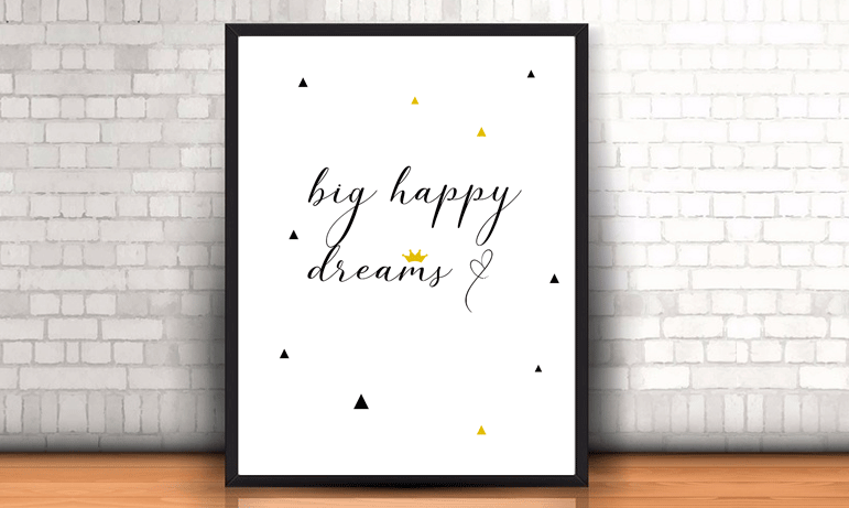 "Lámina ""big happy dreams"""