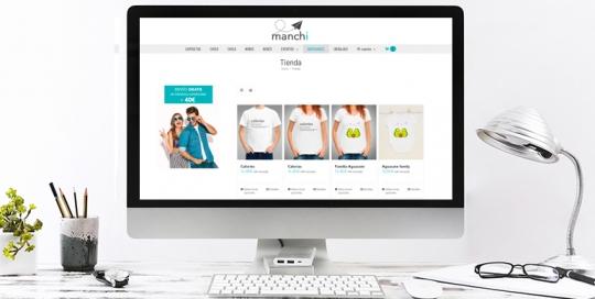 Diseño web de página de camisetas