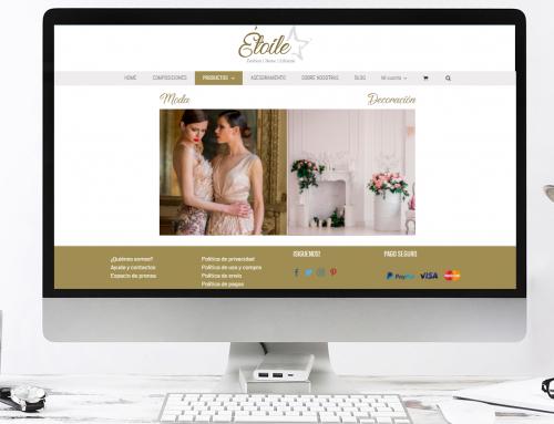 Diseño de la página web Etoile Style